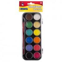 Vodové barvy 30mm velké 12 barev 9540