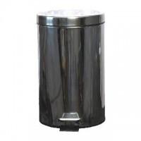 Nerezový odpadkový koš nášlapný s víkem 12 litrů