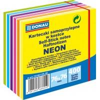 Samolepicí bloček Donau 76x76mm 400 listů neonový