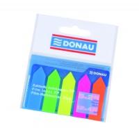 Samolepicí záložky šipky Donau 12x45mm 25 listů neonové/5ks