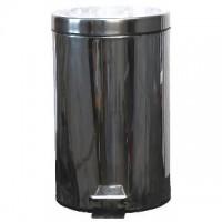 Nerezový odpadkový koš nášlapný s víkem 20 litrů