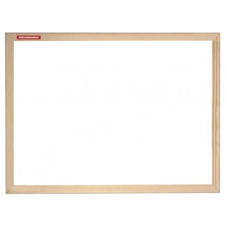 Bílá magnetická tabule Memoboards s dřevěným rámem 90x60cm