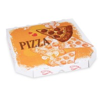 Pizza krabice z vlnité lepenky 26x26x3cm/100ks 72026