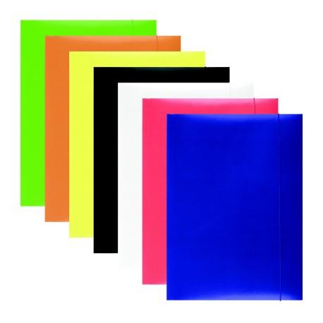 Papírové desky A4 s uzavíratelnou gumičkou Office Products modré