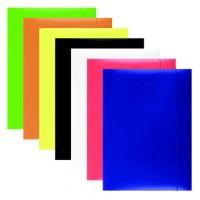 Papírové desky A4 s uzavíratelnou gumičkou Office Products oranžové