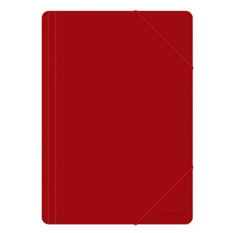 Desky A4 s uzavíratelnou gumičkou Office Products červené