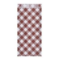 Papírové sáčky 8+2,5x20cm Karo/300ks 71553