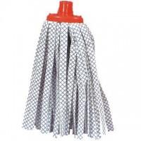 Mop páskový modro-bílý na hůl se závitem