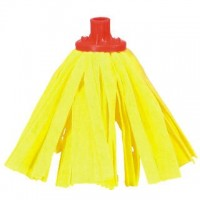 Mop páskový žlutý na hůl se závitem