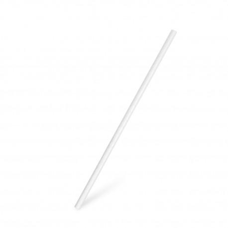 Bio slámky papírové bílé 20cm/100ks 40800