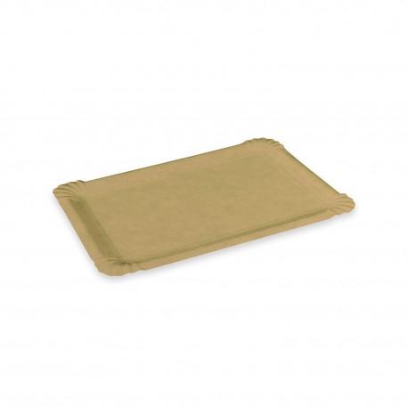 Hnědé papírové tácky č.4 13x20cm/250ks 48004