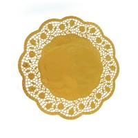 Dekorační krajky kulaté zlaté 30cm 4ks 65460
