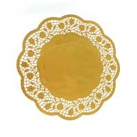 Dekorační krajky kulaté zlaté 32cm 4ks 65463