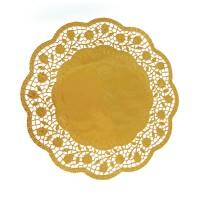 Dekorační krajky kulaté zlaté 36cm 4ks 65466