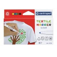 Popisovač na textil 2739 6 barev
