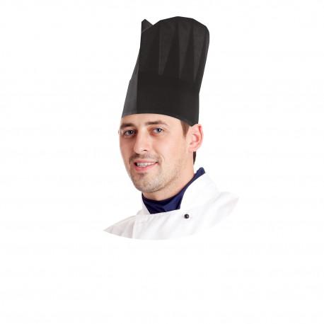Kuchařská čepice papírová černá 23cm/10ks 68219