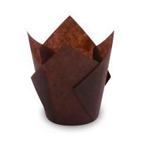 Cukrářské košíčky Tulip hnědé 50x85mm/100ks 72716