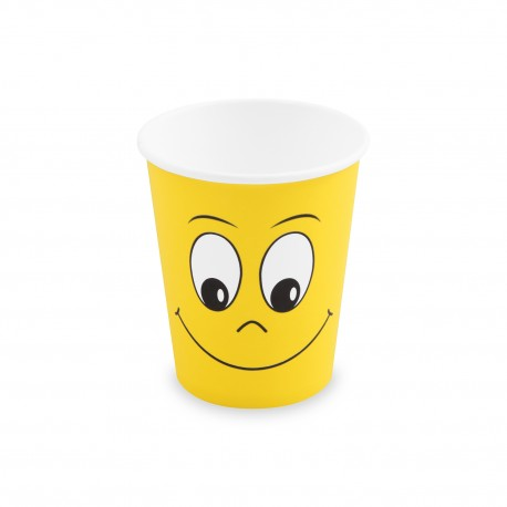 """Papírový kelímek 280ml """"Smiling Face""""/10ks 82673"""