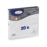 Ubrousky 33x33cm 3-vrstvé bílé/ 20ks 70700