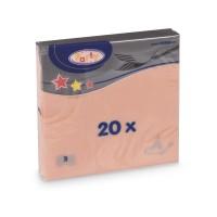 Ubrousky 33x33cm 3-vrstvé apricot/20ks 70704