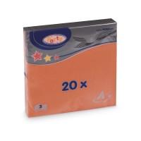 Ubrousky 33x33cm 3-vrstvé oranžové/20ks 70715