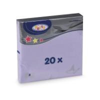 Ubrousky 33x33cm 3-vrstvé světle fialové/20ks 70712