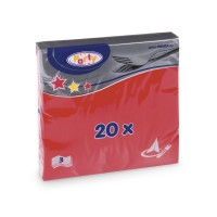 Ubrousky 33x33cm 3-vrstvé červené/20ks 70701