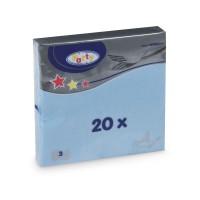 Ubrousky 33x33cm 3-vrstvé světle modré/20ks 70707