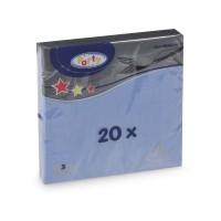 Ubrousky 33x33cm 3-vrstvé modré/20ks 70727