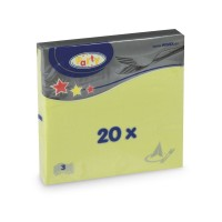 Ubrousky 33x33cm 3-vrstvé žlutozelené/20ks 70717